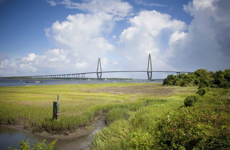 De Brug van Jr Brug in Charleston, Zuid-Carolina royalty-vrije stock fotografie
