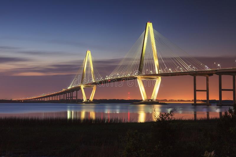 Sc van Arthur Ravenel Jr Bridge Charleston royalty-vrije stock foto