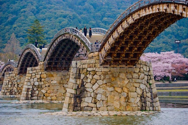De brug van Kintaikintaikyo stock fotografie