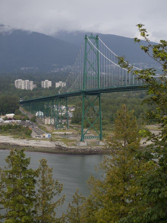 De Brug van de Leeuwenpoort in Vancouver Brits Colombia royalty-vrije stock foto
