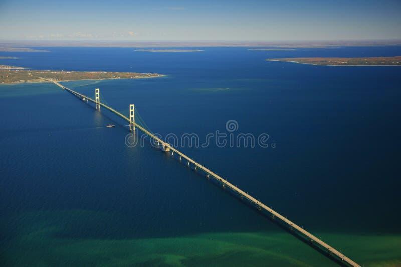 De brug van Mackinac stock fotografie