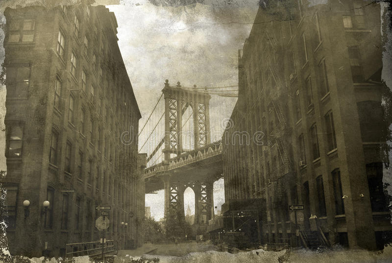 De Brug van Manhattan royalty-vrije stock afbeeldingen