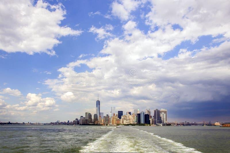 De brug van Manhattan en van Brooklyn stock foto's