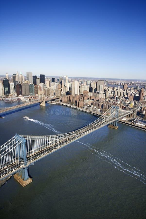 De Brug van Manhattan, New York. royalty-vrije stock foto