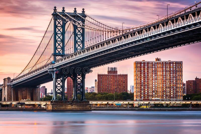De brug van Manhattan in New York royalty-vrije stock fotografie