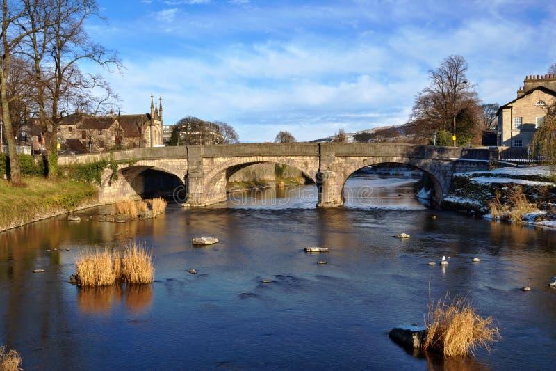 De brug van Milller, Kendal stock afbeelding
