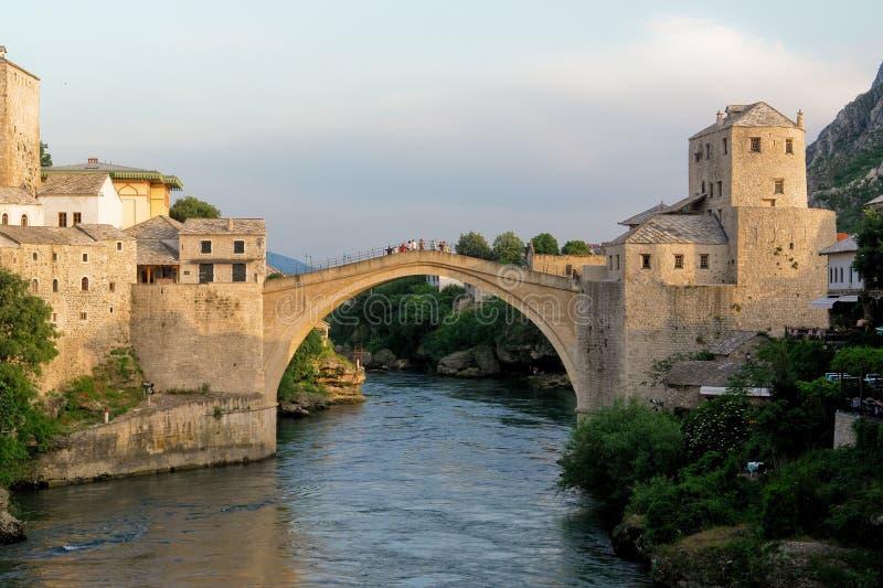De Brug van Mostar - Bosnia - Herzegovina stock fotografie