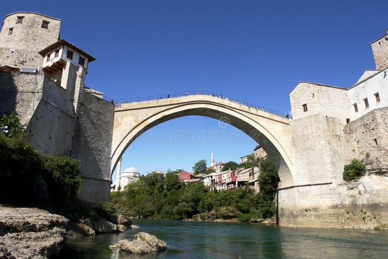 De Brug van Mostar - Bosnia - Herzegovina royalty-vrije stock afbeelding