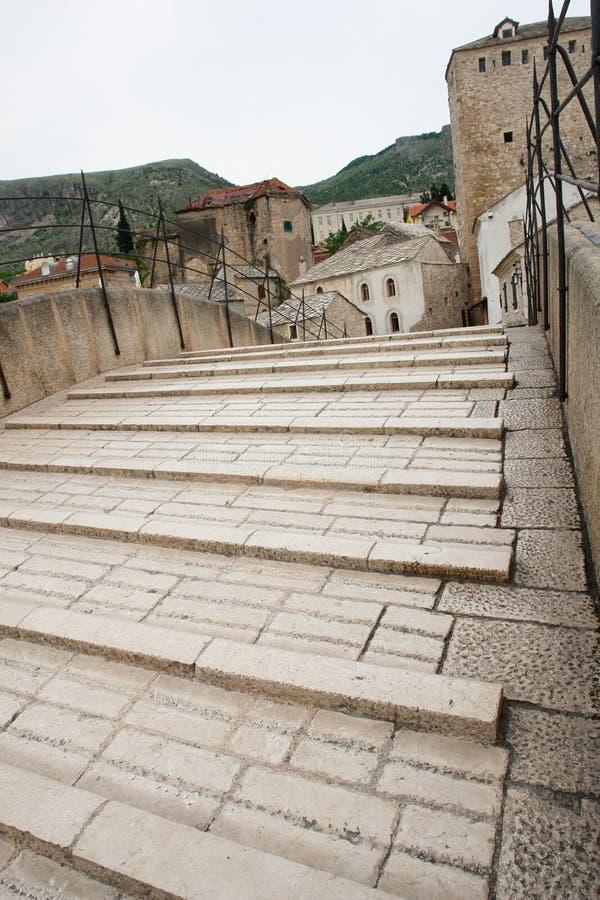 De Brug van Mostar - Bosnia - Herzegovina royalty-vrije stock fotografie