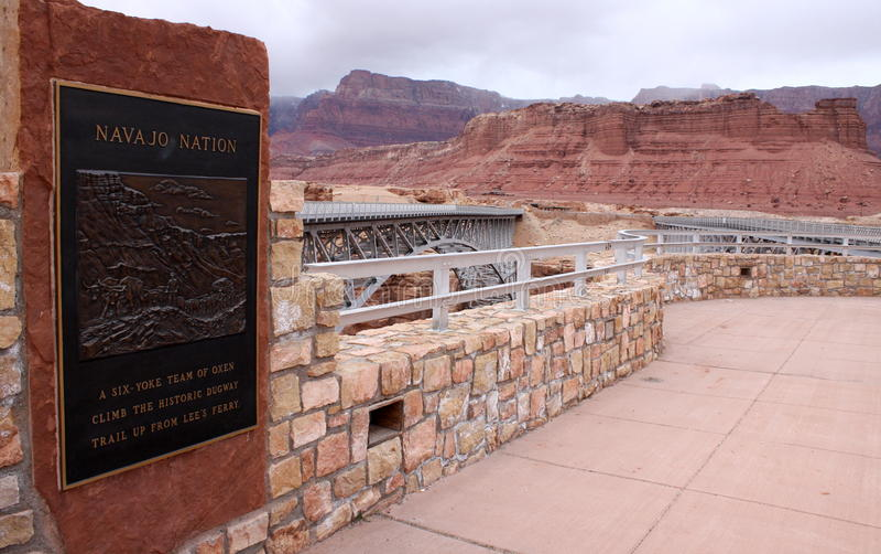 De Brug van Navajo, Coconino Provincie, Arizona, de V.S. royalty-vrije stock fotografie