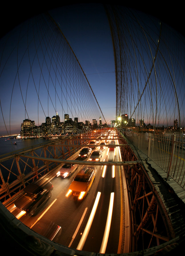 De brug van New York, Brooklyn stock foto