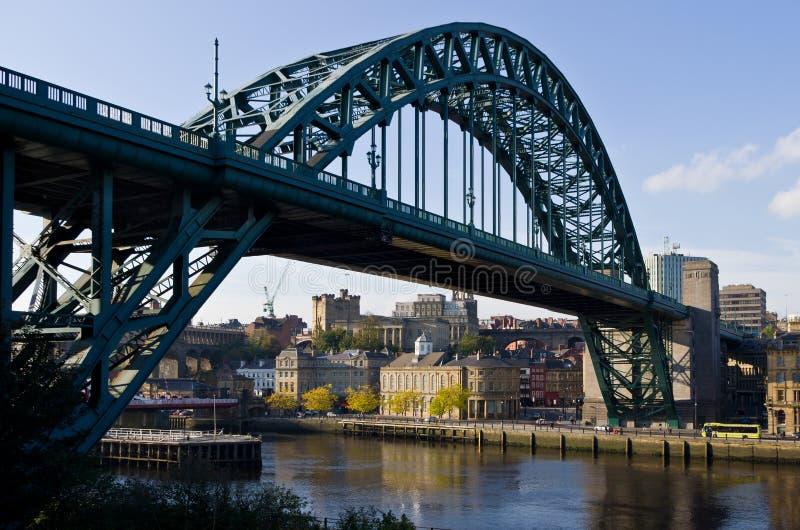 De Brug van Newcastle en van de Tyne stock fotografie