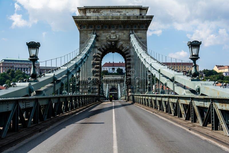 De brug van Nice in Boedapest, Hongarije stock afbeelding