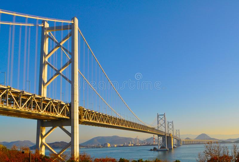 De Brug van Ohashi van Seto, Japan stock fotografie