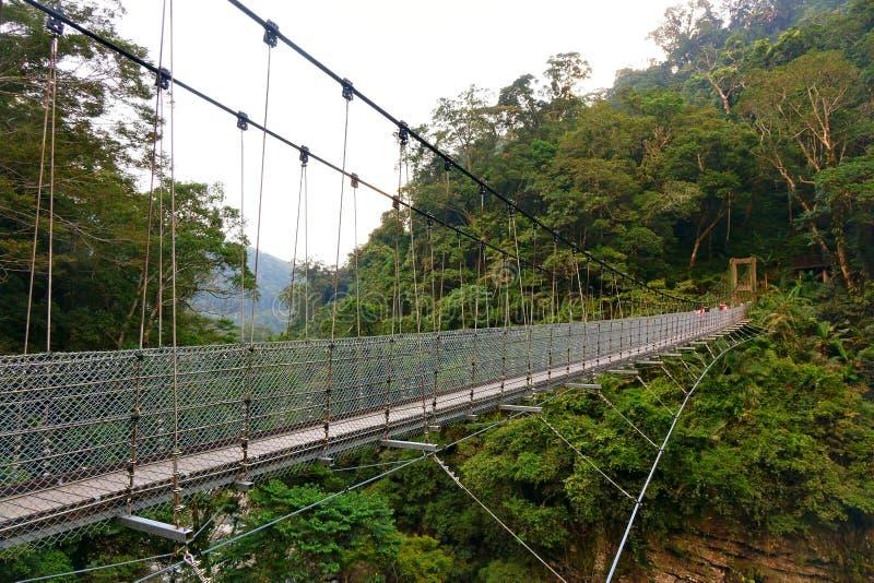 De Brug van de opschorting Bridge royalty-vrije stock afbeelding