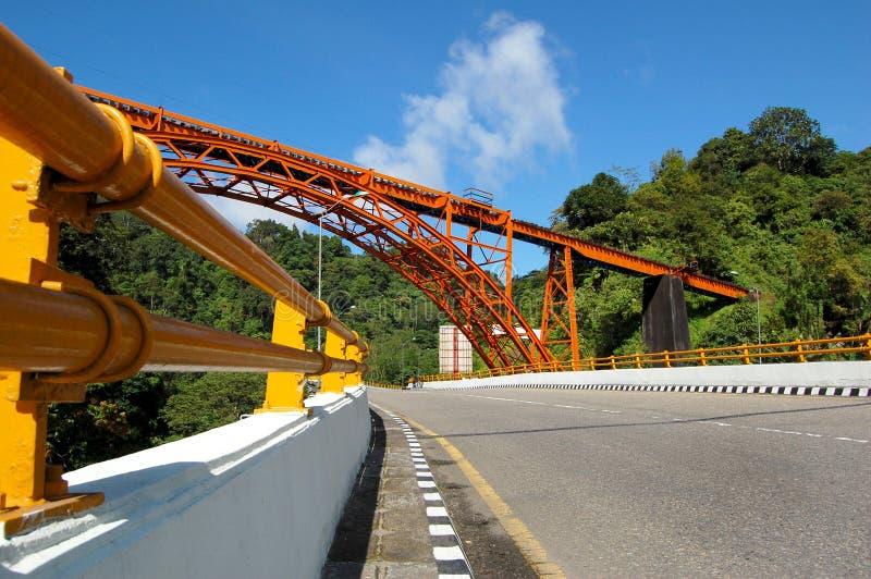 De brug van Padangpanjang stock afbeelding
