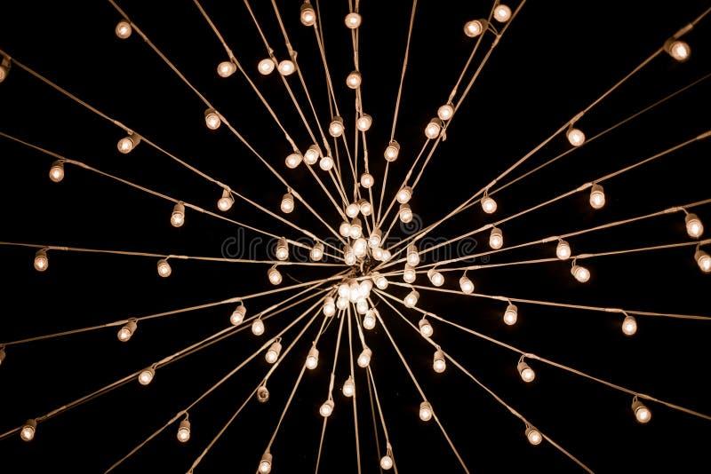De brug van partij geleid licht stock afbeeldingen