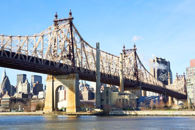 De Brug van Queensboro van de Stad van New York stock afbeeldingen