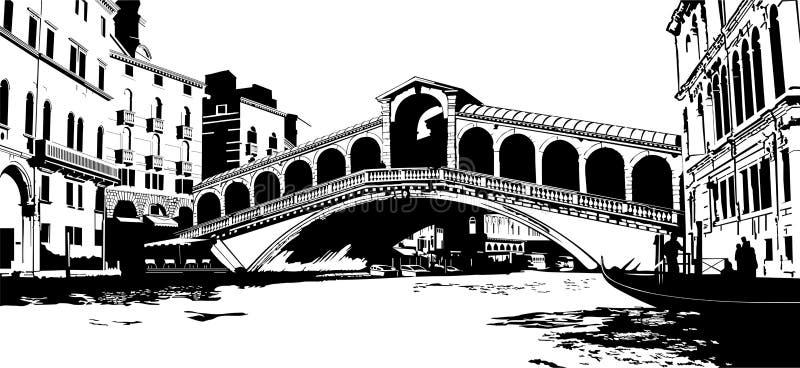 De Brug van Rialto royalty-vrije illustratie