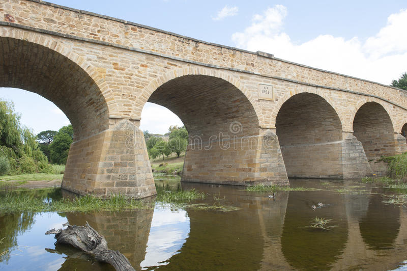 De brug van Richmond in Tasmanige, Australië royalty-vrije stock foto's