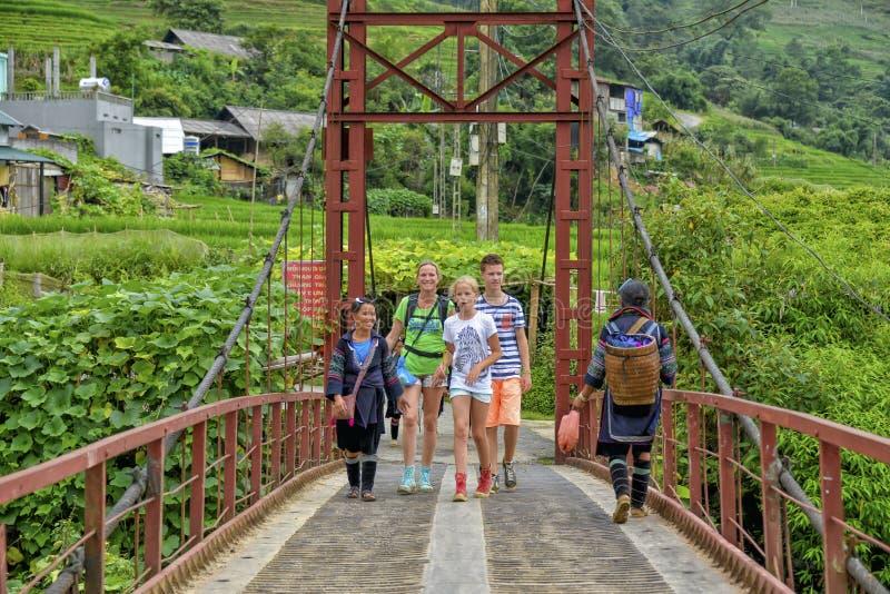 De brug van Sapa royalty-vrije stock foto's