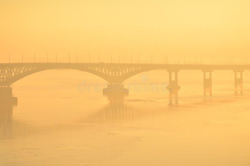 De brug van Saratov royalty-vrije stock foto