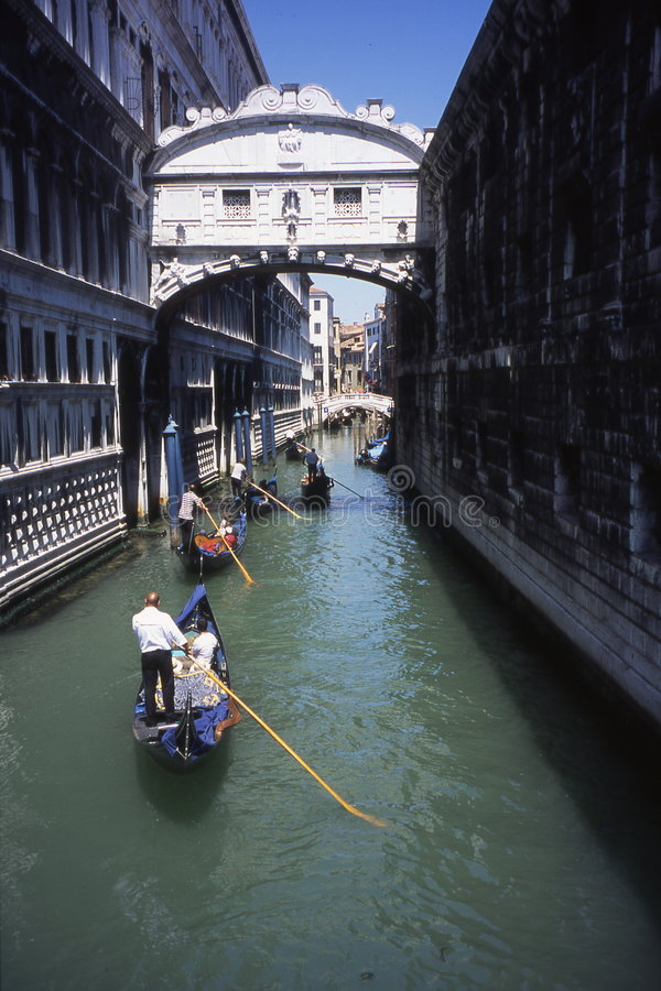 De brug van Sighs.Venice. royalty-vrije stock fotografie