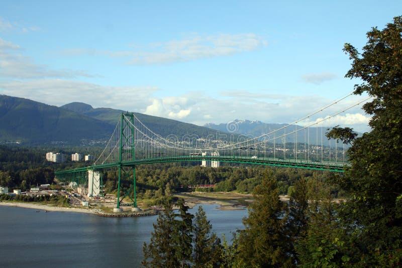 De brug van Supended stock foto's