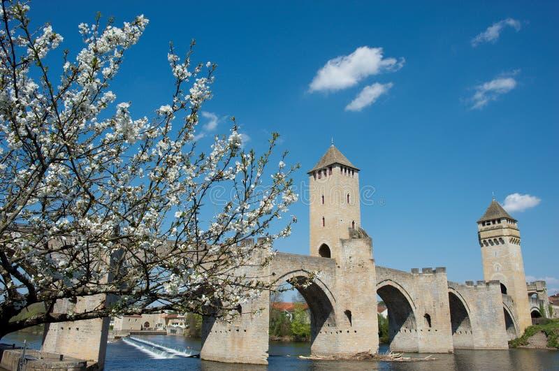 De brug van Valentré stock foto's