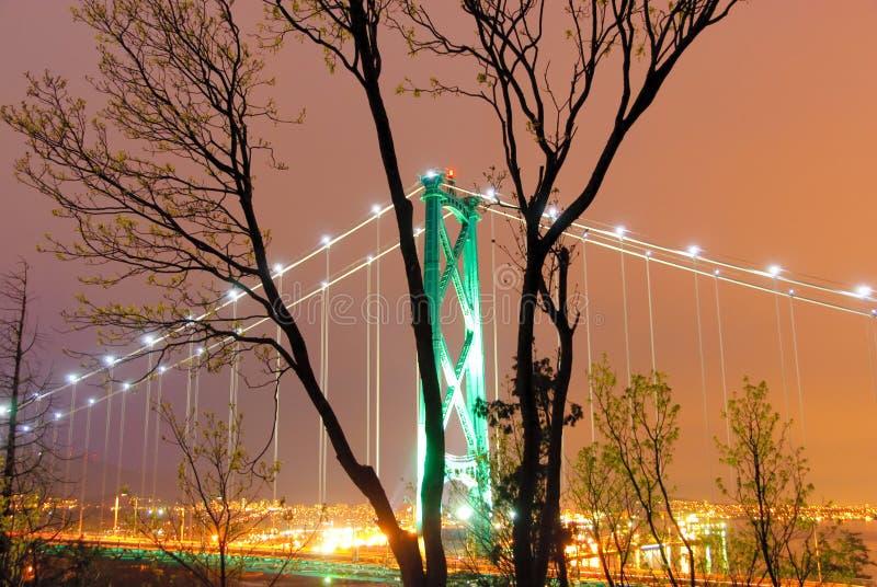 De brug van Vancouver stock afbeeldingen