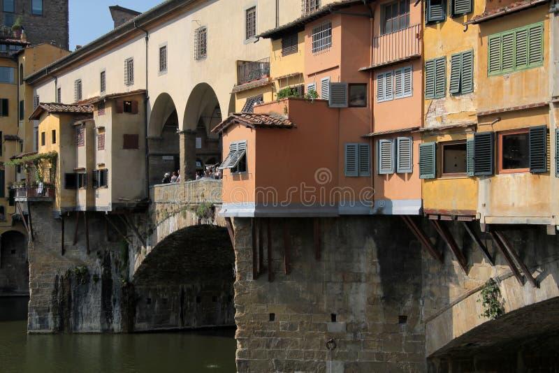 De Brug van Vecchio van Ponte in Florence, Italië stock foto's