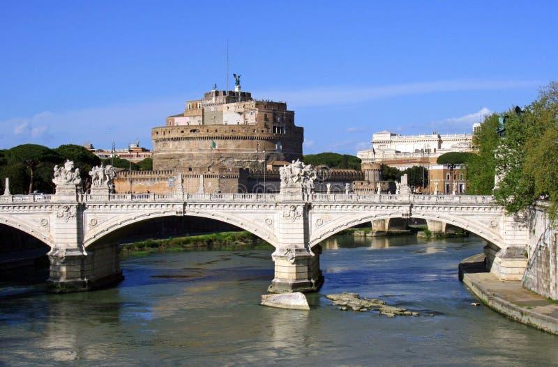 De brug van Vittorio Emanuele II, Castel Sant ` Angelo royalty-vrije stock afbeelding