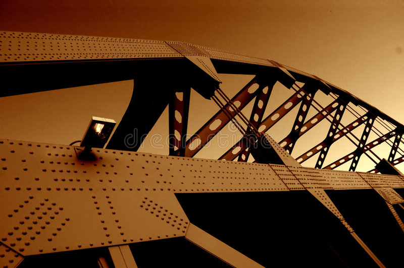 De brug van voet Duquesne stock afbeeldingen