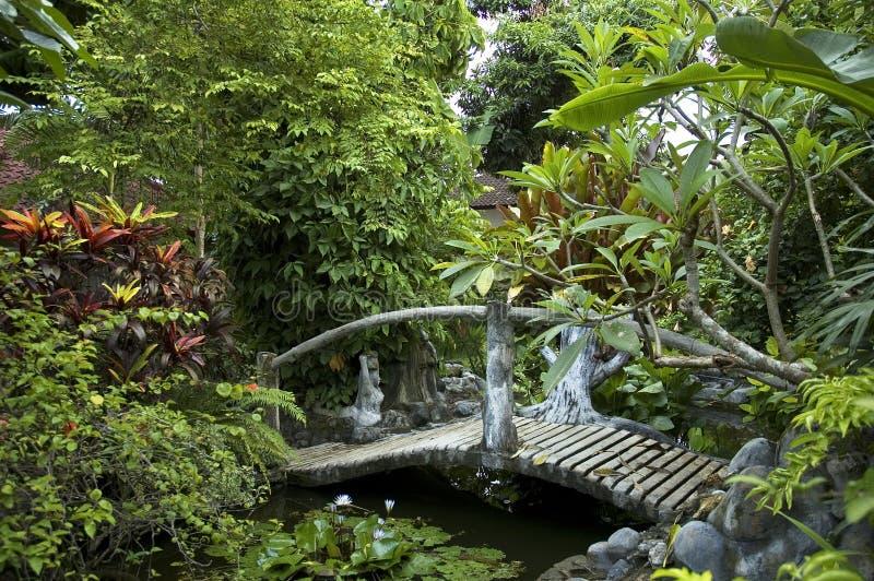 De brug van Woden stock foto
