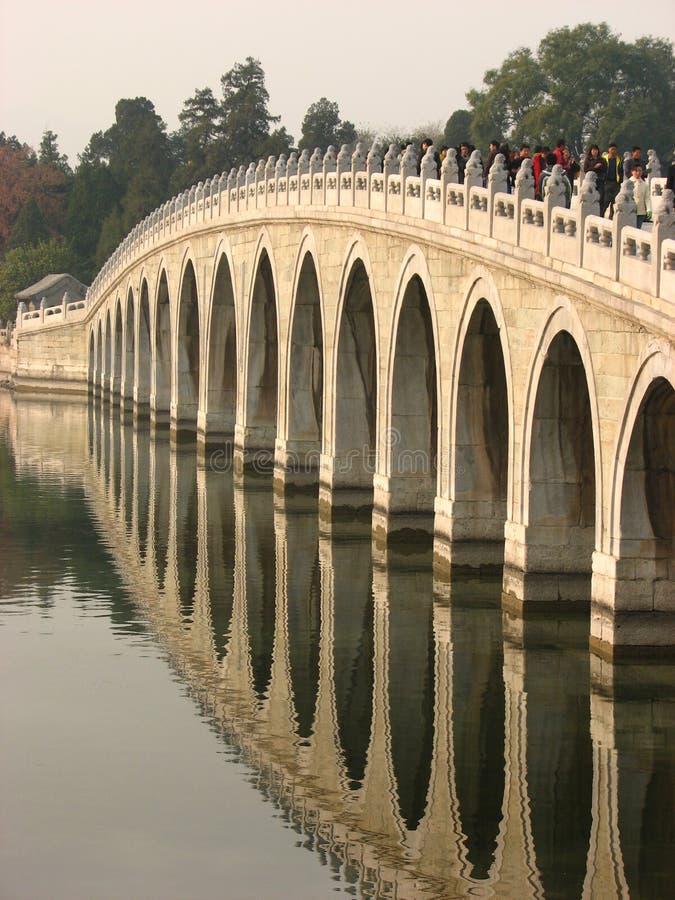 De Brug van zeventien Boog, het Paleis van de Zomer, Peking royalty-vrije stock foto's
