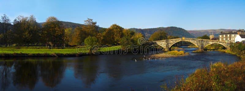 De Brug Wales van Llanrwst stock afbeelding