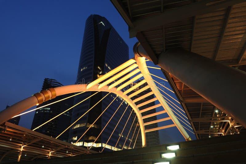 De brugaansluting van de hemel aan Post BRT stock foto's