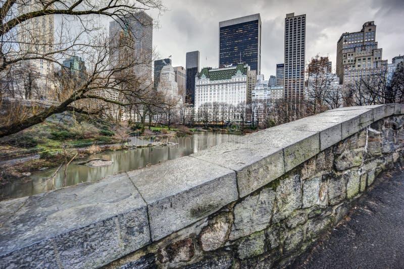 De brugCentral Park van Gapstow, de Stad van New York royalty-vrije stock foto's