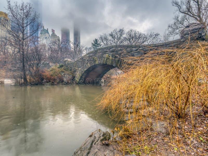 De brugCentral Park van Gapstow, de Stad van New York royalty-vrije stock afbeeldingen