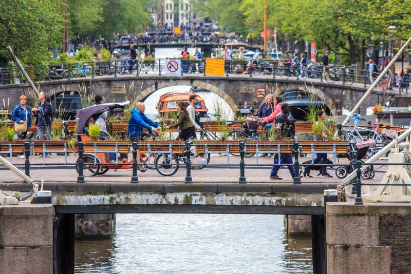 De Bruggen van Amsterdam op Prinsengracht royalty-vrije stock foto