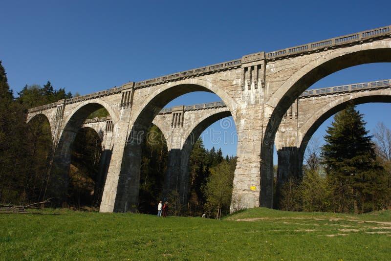 De bruggen van de spoorweg stock afbeelding
