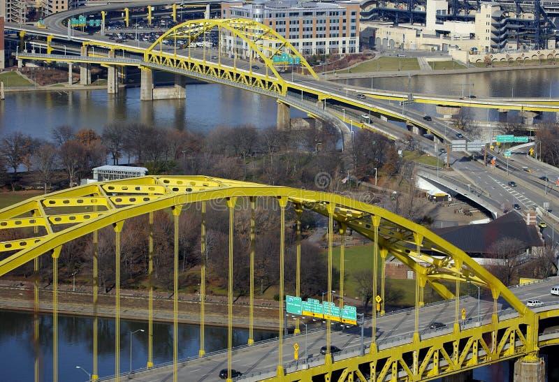 De Bruggen van Pittsburgh stock fotografie