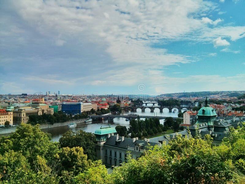 De bruggen van Praag stock foto