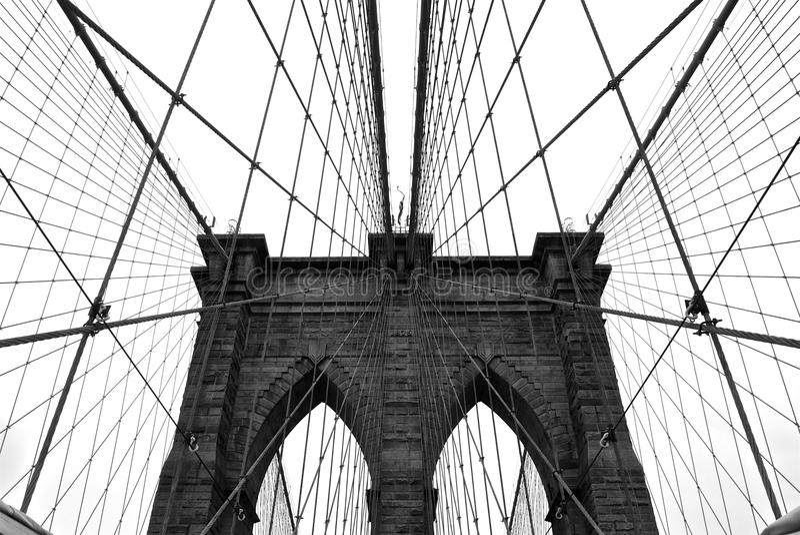 De Brugkabels van Brooklyn stock afbeeldingen