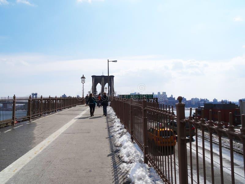 De Brugmensen van Brooklyn, New York stock afbeeldingen