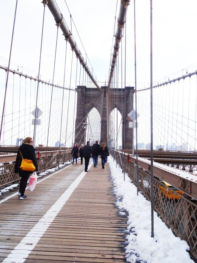 De Brugtoeristen van Brooklyn, New York royalty-vrije stock afbeeldingen