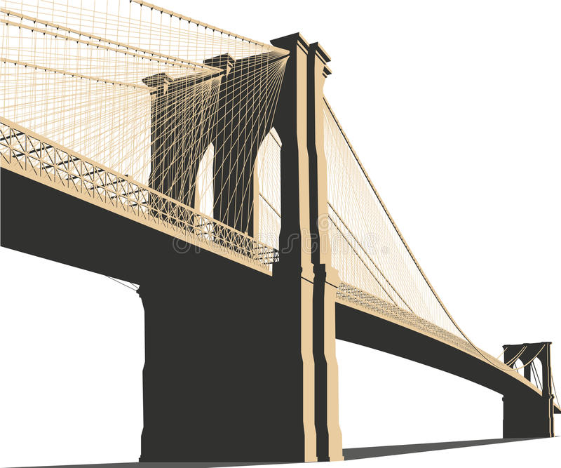 De Brugvector van Brooklyn vector illustratie