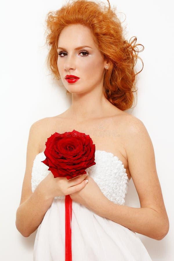 De bruid van de roodharige royalty-vrije stock fotografie