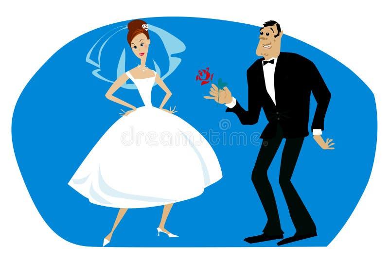 De bruid van de trots stock illustratie