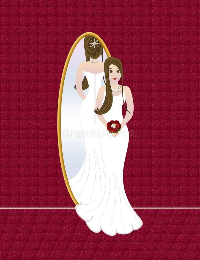 De bruid van het huwelijk vector illustratie
